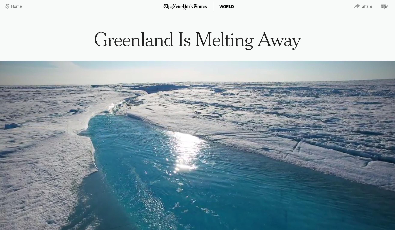 Greenland Melting Away