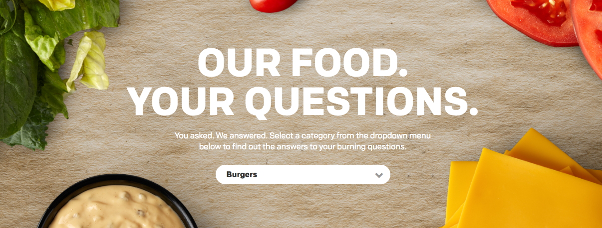McDonalds Our Food Your Questions Content