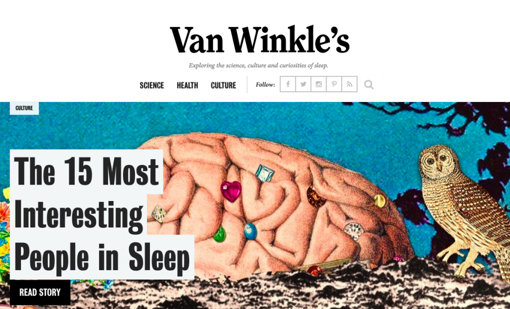 Van Winkle's Content Marketing Example