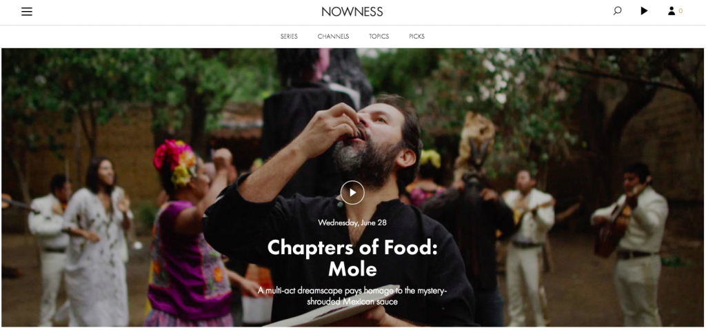 Nowness Content Marketing Example