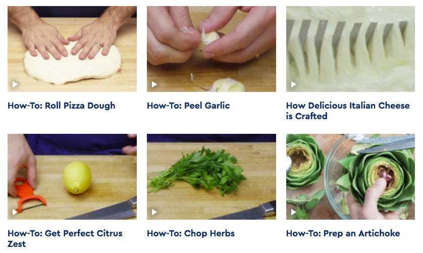 Blue Apron Content Marketing Example