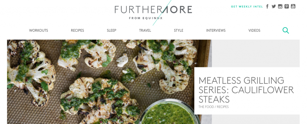 Furthermore from Equinox Content Marketing Example