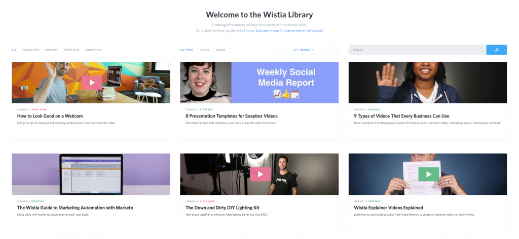 Wistia Content Marketing Example
