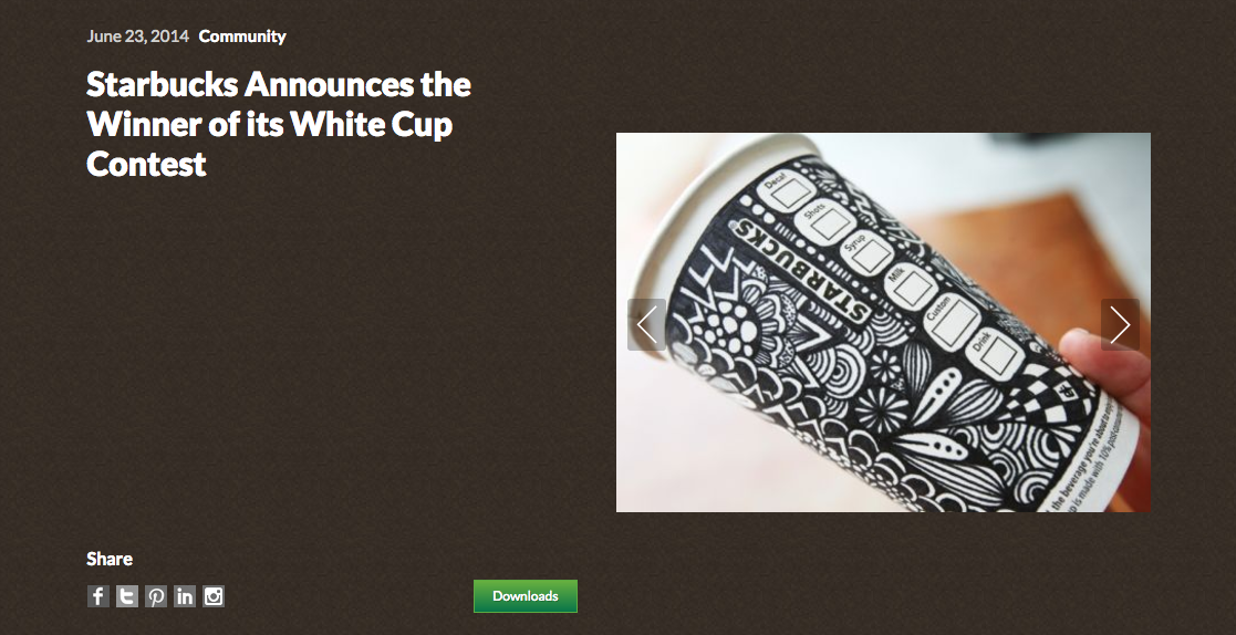 Starbucks User Generated Content Marketing