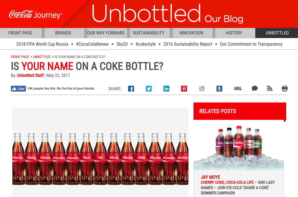 Coca Cola Content Marketing Lessons